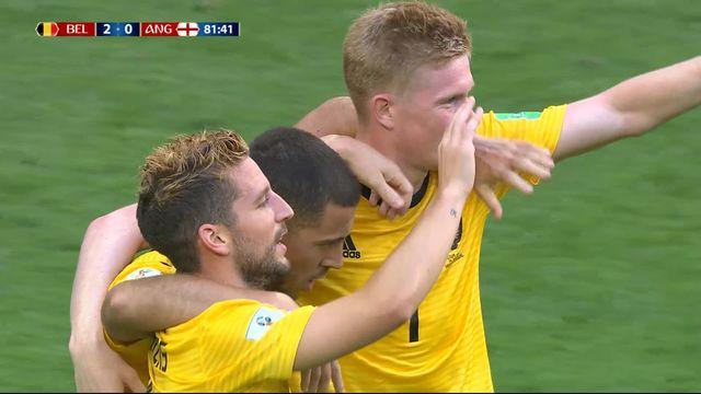 Petite finale, Belgique - Angleterre (2-0): 82e, parfaitement servi par De Bruyne, Hazard double la mise [RTS]