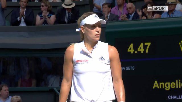 Finale dames, A.Kerber (GER) - S.Williams (USA) (6-3): l'Allemande empoche le 1er set [RTS]