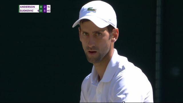 Finale, K.Anderson (RSA) - N.Djokovic (SRB) (2-6): le Serbe s'adjuge le premier set [RTS]