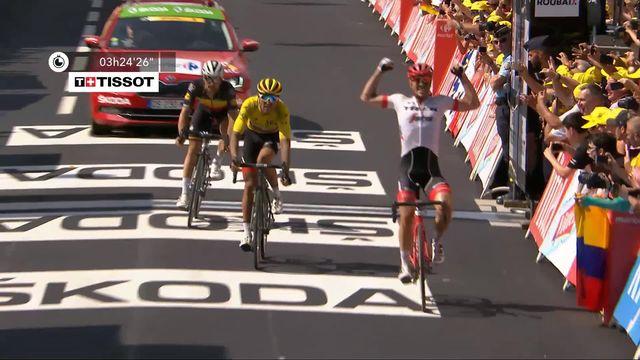 9e étape: Degenkolb (GER) remporte l'étape au sprint face au maillot jaune [RTS]
