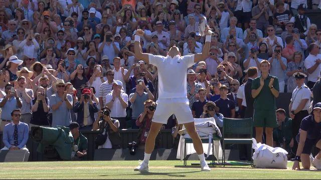 Finale, K.Anderson (RSA) - N.Djokovic (SRB) (2-6 2-6 6-7): victoire de Novak Djokovic à Wimbledon [RTS]