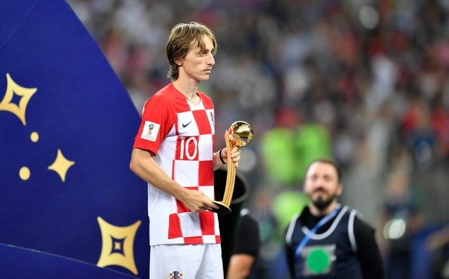 Luka Modric a été élu meilleur joueur du tournoi. [Martin Meissner - Keystone]