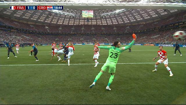 Finale, France - Croatie 1-0: 19e Mario Mandzukic marque contre son camp [RTS]