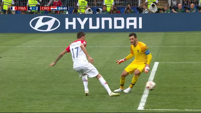 Finale, France - Croatie 4-2: 69e, Mario Mandzukic profite de la grosse erreur d'Hugo Lloris [RTS]