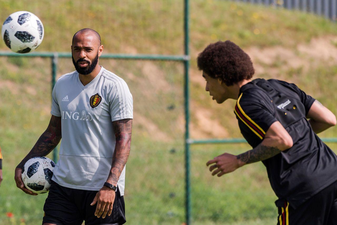 Thierry Henry, en qualité d'entraîneur assistant, a conduit la Belgique à la 3e place en Russie. [Vanden Wijngaert - Keystone]