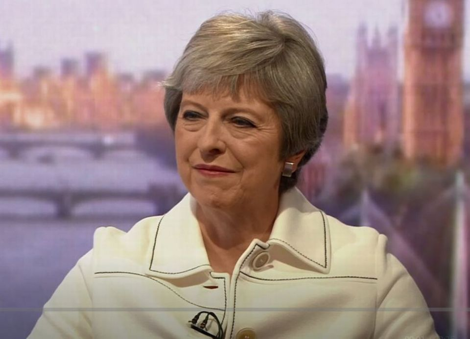 Theresa May dans l'émission politique dominicale The Andrew Marr Show, sur la BBC.