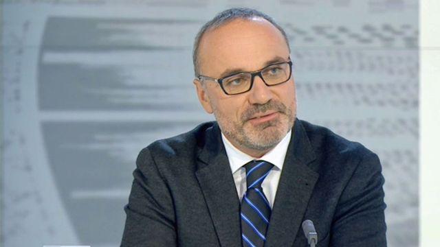 Le professeur Luc Thévenoz. [RTS]