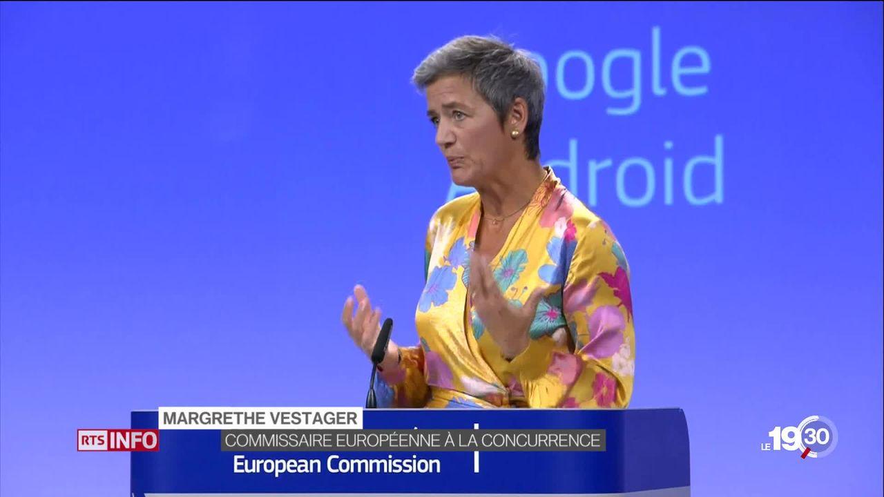 L'Europe attaque l'empire Google. Elle lui inflige une amende de 5 milliards de francs pour abus de position dominante [RTS]