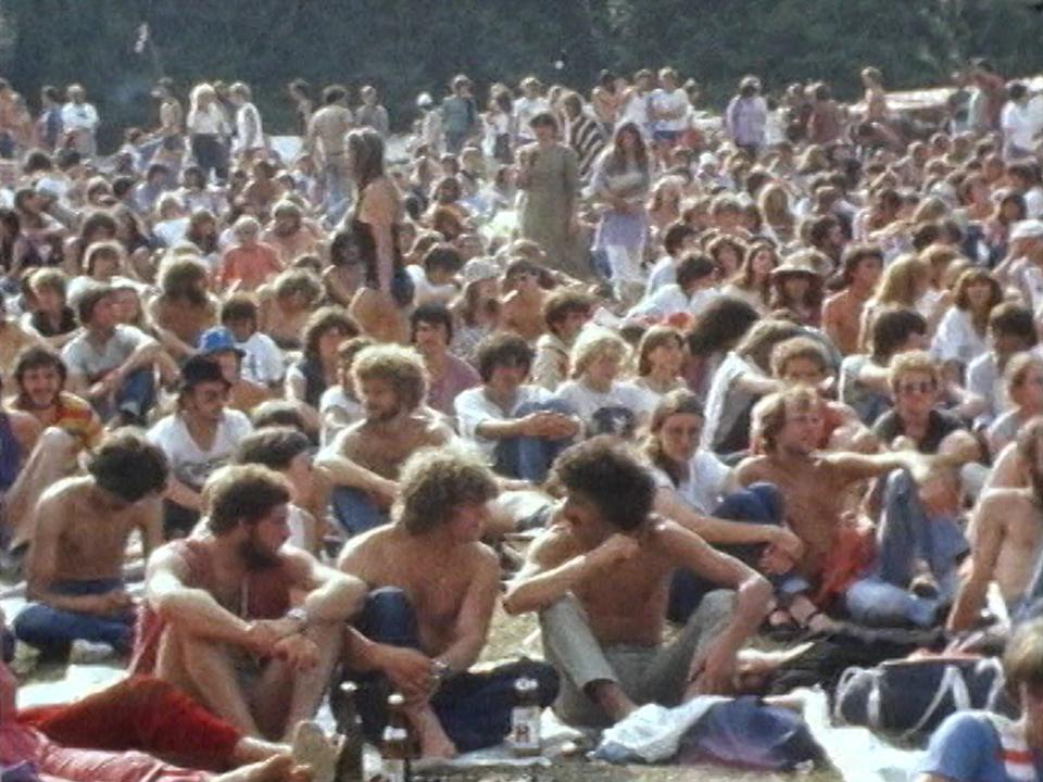 Le Paleo Festival de Nyon dans les années 80. [RTS]