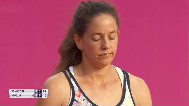 1-8e P. Schnyder (SUIS) - S. Stosur (AUS) (4-6, 1-6) La Bâloise de 39 ans perds en deux sets face à l'Australienne [RTS]