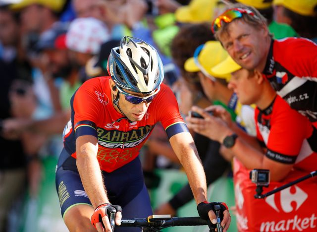 Vincenzo Nibali a chuté lors de la 12e étape de la Grande Boucle. [Kim Ludbrook - Keystone]