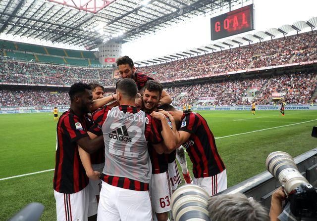 Les joueurs du Milan AC pourront finalement disputer l'Europa League. [Matteo Beazzi - Keystone]