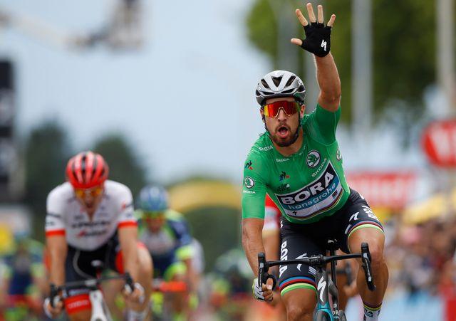Sagan a fait parler sa puissance pour s'imposer au sprint à Valence. [Kim Ludbrook - Keystone]