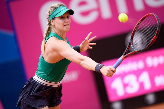 Eugenie Bouchard en découdra avec Alizé Cornet en demi-finales. [Anthony Anex - Keystone]