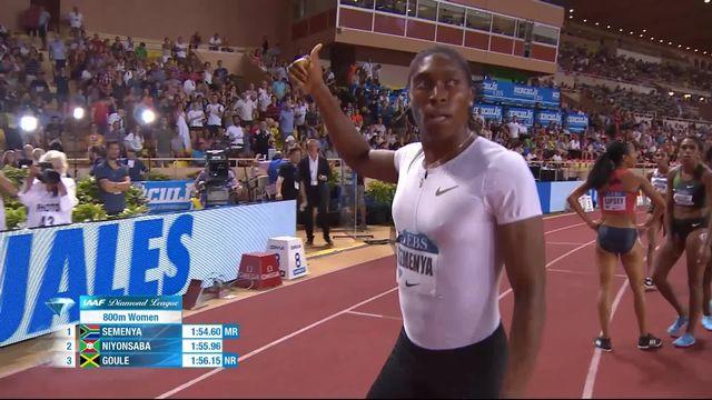 800m dames: Caster Semenya (RSA) facile, Selina Büchel (SUI) au dernier rang [RTS]