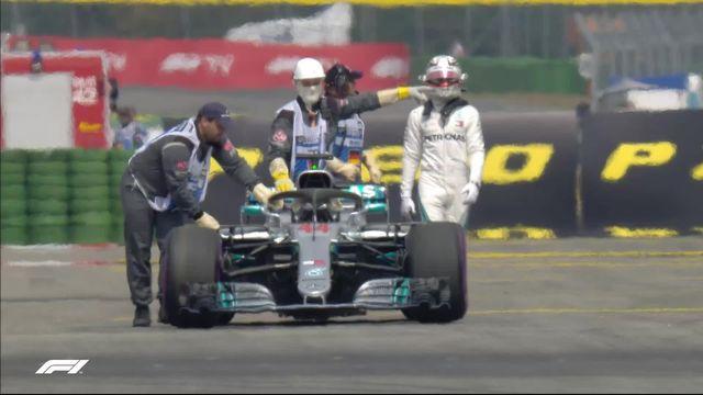 GP d'Allemagne (n°11), Q1: la panne pour Hamilton contraint de pousser sa voiture! [RTS]