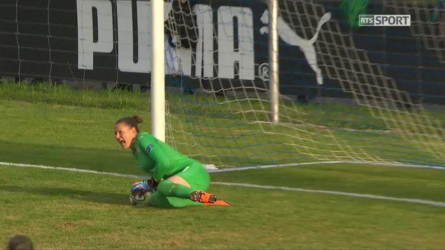 Gr.A, Suisse – Espagne (0-2): 76e, Herzog arrête un penalty de Eizaguirre [RTS]