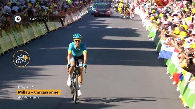 Tour de France: victoire de Magnus Cort Nielsen (DEN) au sprint final de la 15ème étape. [RTS]