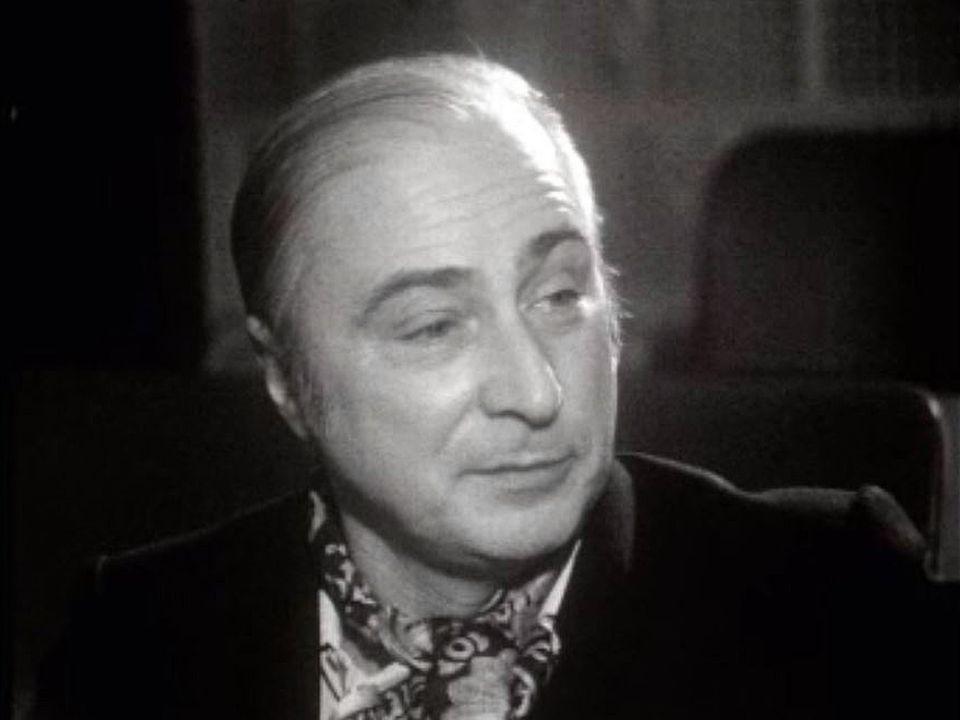 Gérard Oury a toujours favorisé ses relations avec les comédiens. [RTS]