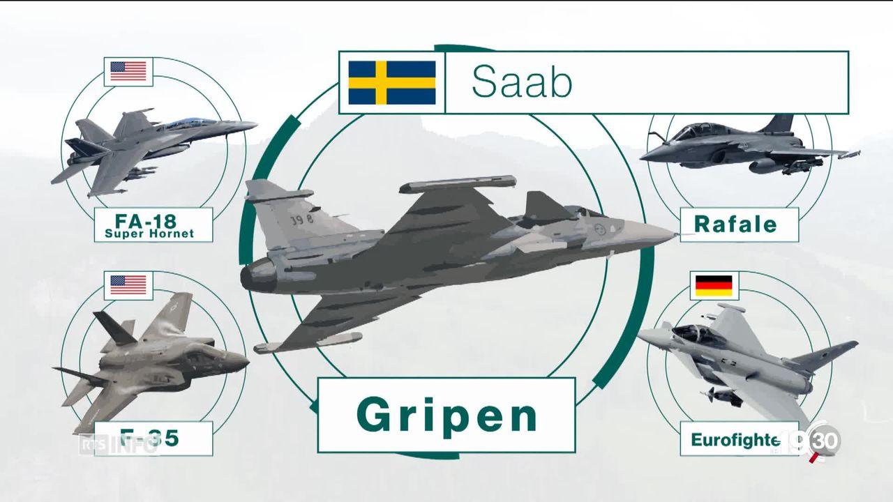 Avions de combat pour la Suisse: Cinq constructeurs sont sur les rangs, Boeing, Airbus, Dassault, Saab et Lockheed Martin [RTS]