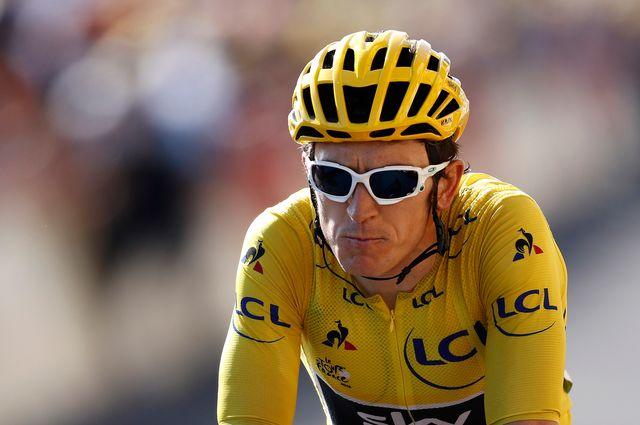 Geraint Thomas est solidement accroché à son maillot jaune. [Sébastien Nogier - EPA/Keystone]
