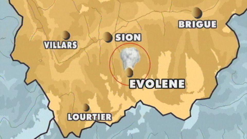 Flash 10h45 sur les avalanches à Evolène. [RTS]