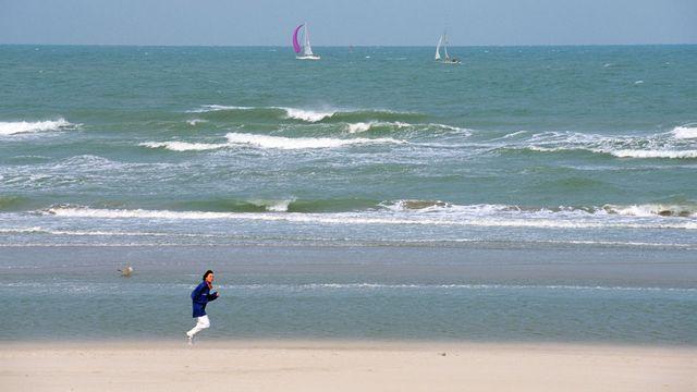 Une plage du Westhoek, à la frontière franco-belge. [Bertrand Rieger - Hemis - AFP]