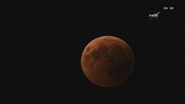 L'éclipse lunaire filmée par la NASA [RTS]