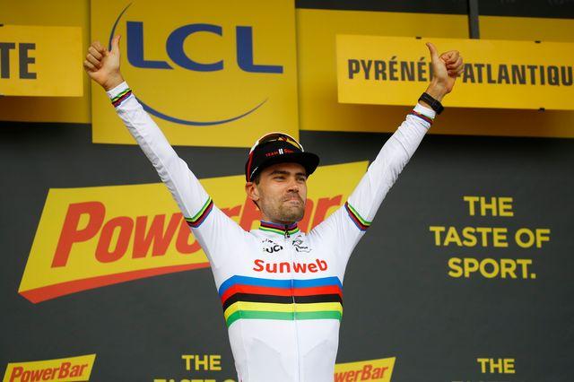 Tom Dumoulin a remporté la 20e étape du Tour de France, ce samedi 28 juillet. [Kim Ludbrook - EPA - Keystone]