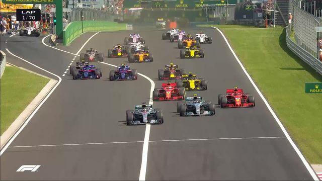 GP d'Hongrie (#12): les meilleures moments de la course après la victoire de Lewis Hamilton (GBR) [RTS]