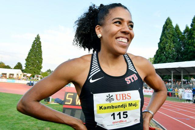 Mujinga Kambundji possède une belle chance de médaille sur 100m. [Walter Bieri - Keystone]