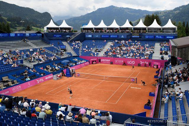 Le stade du tournoi de Gstaad. [Anthony Anex - Keystone]