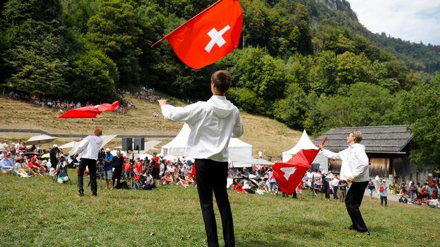 La Fête nationale, l'occasion de revenir sur l'identité suisse. [Peter Klaunzer - Keystone]