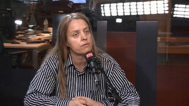 La porte-parole du WWF Pierrette Rey dans les studios de La Première. [RTS]