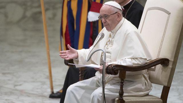 Le pape François au Vatican, le 1er août 2018. [Maurizio Brambatti - EPA/Keystone]