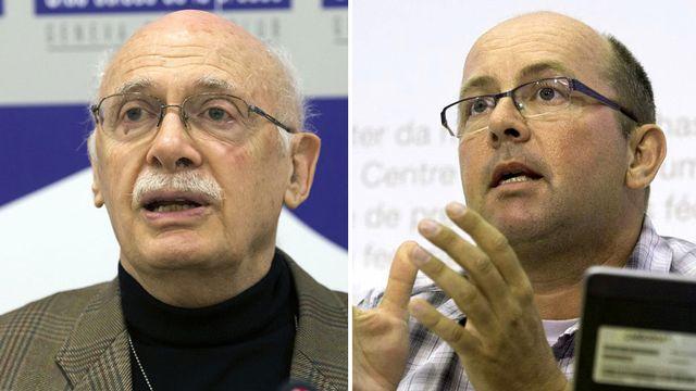 Alexandre Casella et Philippe Wanne. [Salvatore Di Nolfi et Lukas Lehmann - Keystone]