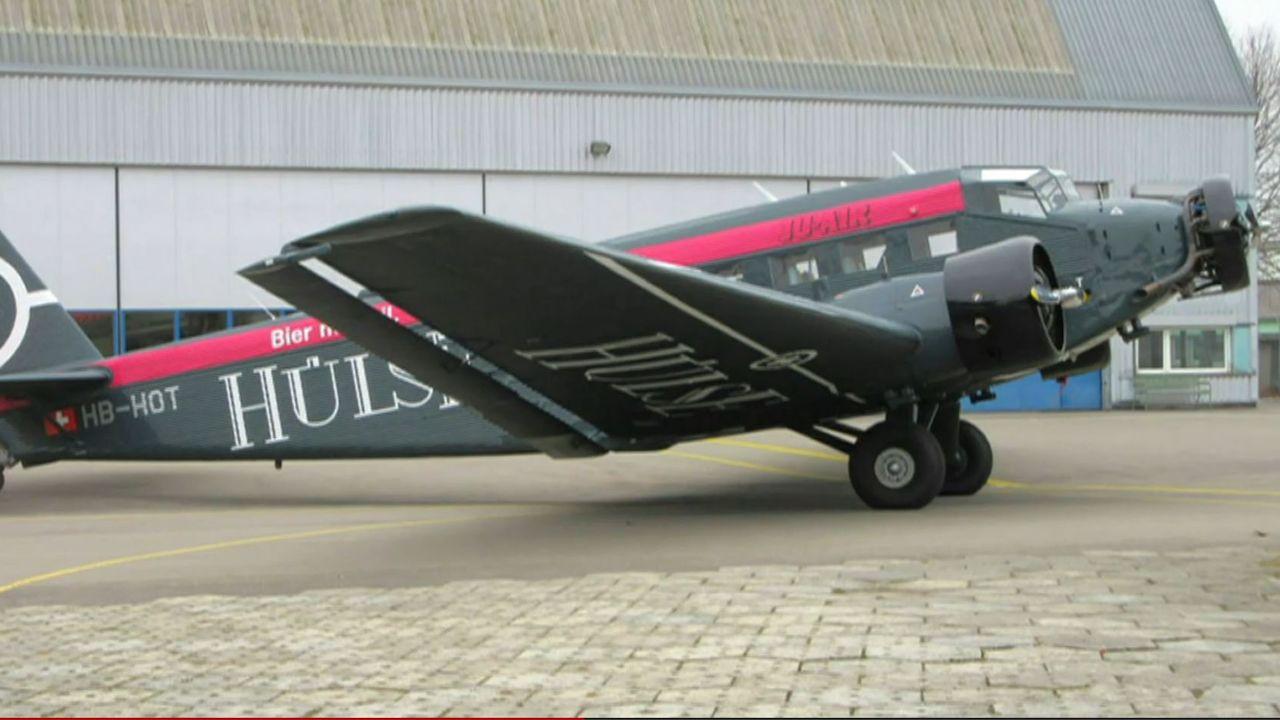 L'un des avions JU52 de JU-Air. [SRF]