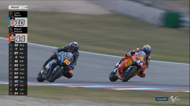 Moto 2: Oliveira (POR) s'impose devant Marini (ITA) 2e et Bagnaia (ITA) 3e [RTS]