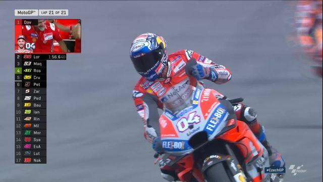 Moto GP: Dovizioso (ITA) s'impose devant Lorenzo (ESP) 2e et Marquez (ESP) 3e [RTS]