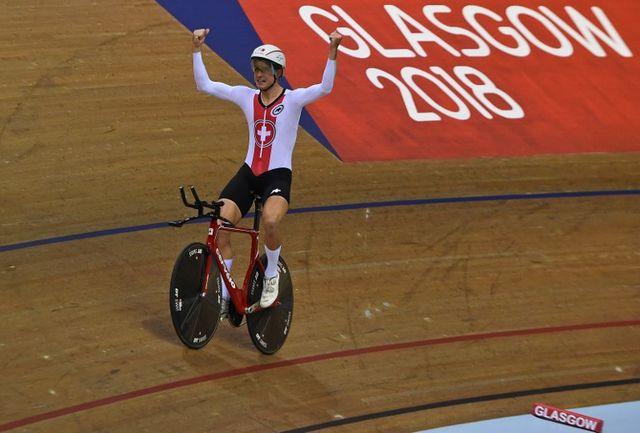 Claudio Imhof a décroché sa deuxième médaille à Glasgow. [Andy Buchanan - AFP]