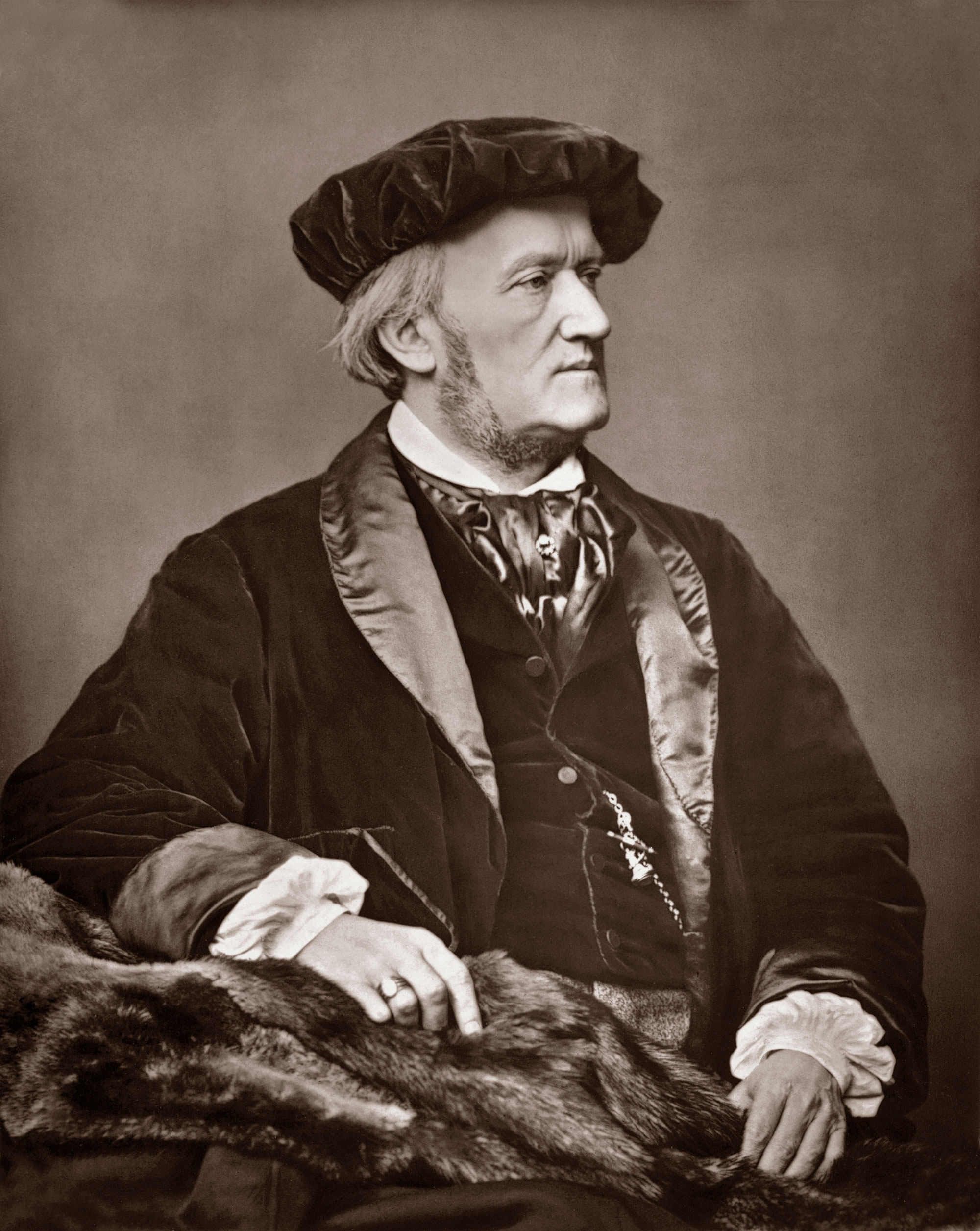 Portrait du compositeur allemand Richard Wagner (1813-1883).