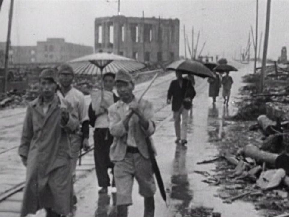 Le Japon sous le feu nucléaire en août 1945. [RTS]
