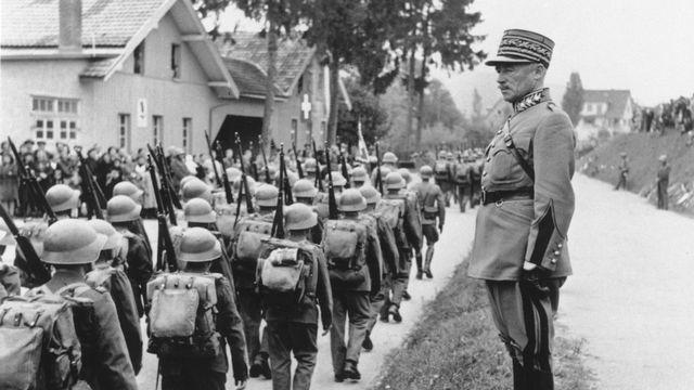 Le général Guisan durant la seconde guerre mondiale. [RTS]