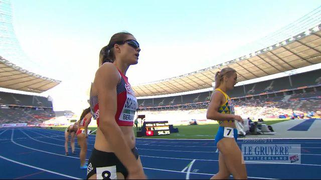 Athlétisme, 400m haies dames: Robine Schürmann remporte sa série et se qualifie pour les ½ [RTS]