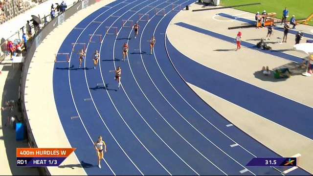 Athlétisme, 400m haies dames: Yasmine Giger qualifiée au temps [RTS]