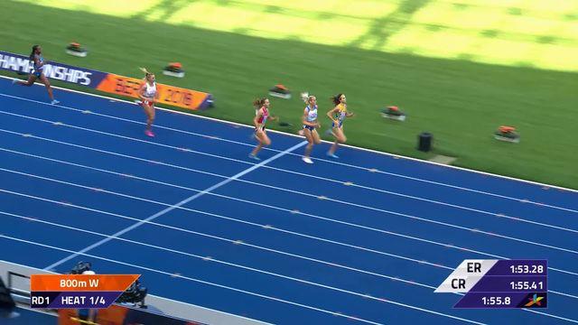 Athlétisme, 800m dames: Selina Büchel qualifiée pour les ½ avec son meilleur chrono de la saison [RTS]