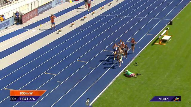 Athlétisme, 800m dames: Lore Hoffmann passe en ½ [RTS]