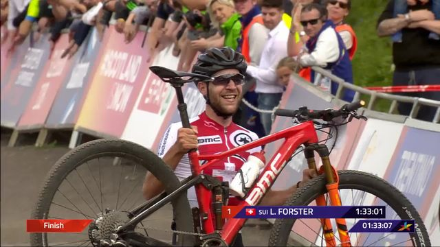 VTT, cross-country messieurs: Lars Forster sacré champion d'Europe! [RTS]