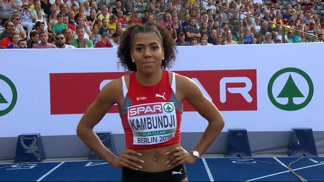 Athlétisme, 100m dames: Mujinga Kambundji s'impose en ½ et se qualifie pour la finale [RTS]