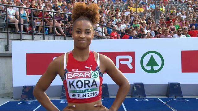 Athlétisme, 100m dames: pas de miracle pour Salomé Kora qui s'arrête en ½ finale [RTS]